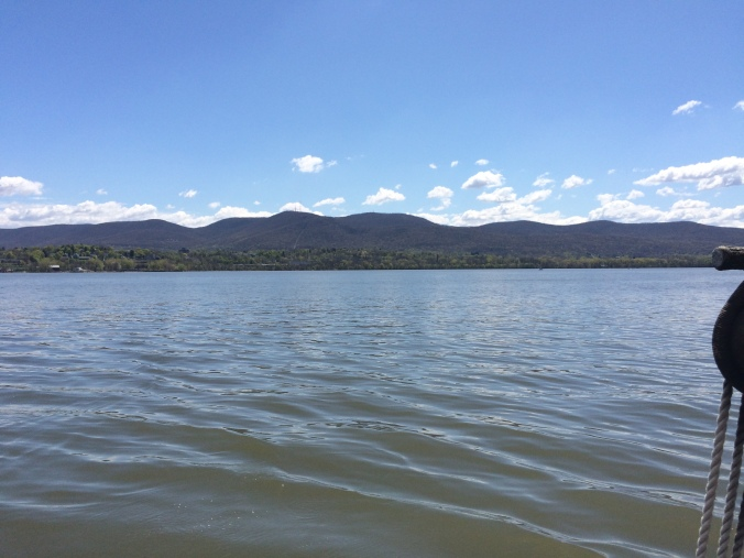 View of Fishkill RIdge from the Hudson River Sloop Clearwater